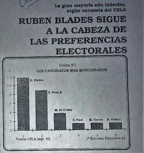 Lluvia de encuestas 1993-1994