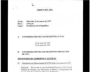 Consejo de Gabinete de 12 de marzo de 1997