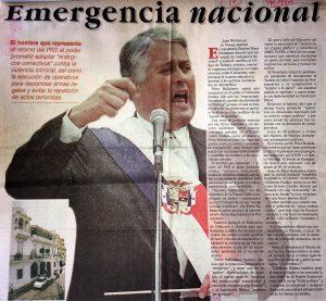 Toma de Posesión con «Emergencia Nacional»